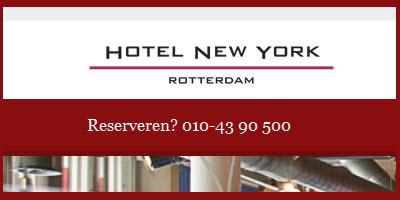 Hotel New York in Rotterdam biedt ook high tea voor 1